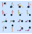 Fitness ball icons set vector image vector image