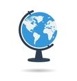Flat school globe icon vector image vector image