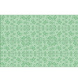 flower pattern on green background vector image vector image