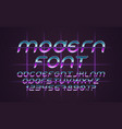 font 80s vector image vector image