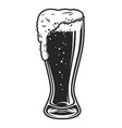 full of beer glass cup template vector image vector image