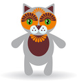 Funny cat on a white background vector image