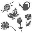 garden element set vector image vector image