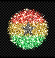 ghana flag sparkling badge vector image