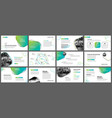 green geometric slide presentation templates and vector image