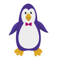 hand drawn penguin natural colors vector image vector image