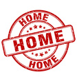 home red grunge round vintage rubber stamp vector image vector image