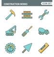 icons line set premium quality construction vector image vector image