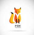 Image of a fox design vector image vector image
