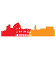 isolated cityscape of rome vector image
