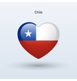 love chile symbol heart flag icon vector image