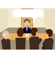 Man at the interview for job vector image