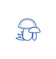 mushroom line icon concept mushroom flat vector image vector image