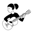 music lessons guitar player guitarist student vector image