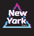 new york city glitch effect retro vector image vector image