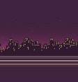 night city landscape background in flat style vector image