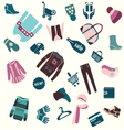 Pattern of winter clothing and shopping vector image vector image