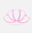 pink lotus plant vector image