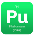 Plutonium chemical element vector image vector image