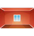 Red Empty Room vector image vector image