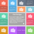 Rent icon sign Set of multicolored buttons with vector image vector image