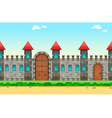 Repeateble castle on the sides vector image