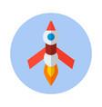 rocket flat icon rocket icon f vector image vector image