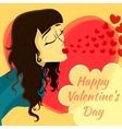 Romantic date Valentines Day Card vector image