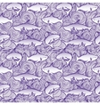 seamless pattern with cute sharks vector image vector image