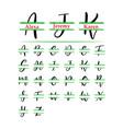 set initial grass monogram split letter vector image