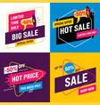 set sale banners template 02 vector image