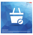 shopping cart and tick sign vector image vector image