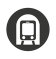 subway transport public icon vector image vector image