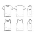 templates of t-shirt and vest vector image vector image