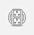 uk double smart socket concept icon in vector image vector image