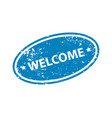 welcome stamp texture rubber cliche imprint web vector image vector image