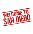 welcome to san diego stamp vector image vector image