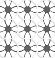 White rhombuses on gray ornament vector image vector image