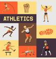 women athletics banner poster brochure vector image vector image