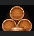 wooden barrel vessel vector image