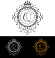 Letter Q Luxury Logo template flourishes vector image