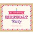 Birthday party invitation card vector image
