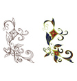 Abstract Floral Ornament2 vector image vector image