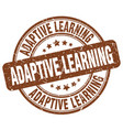 adaptive learning brown grunge stamp vector image vector image