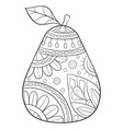 adult coloring bookpage a cute fruit
