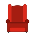 Armchair flat icon vector image vector image