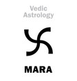astrology astral planet mara vector image vector image