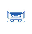 audio tape line icon concept audio tape flat vector image