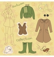 Autumn clothes set vector image vector image