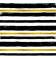 background with black and golden strips vector image
